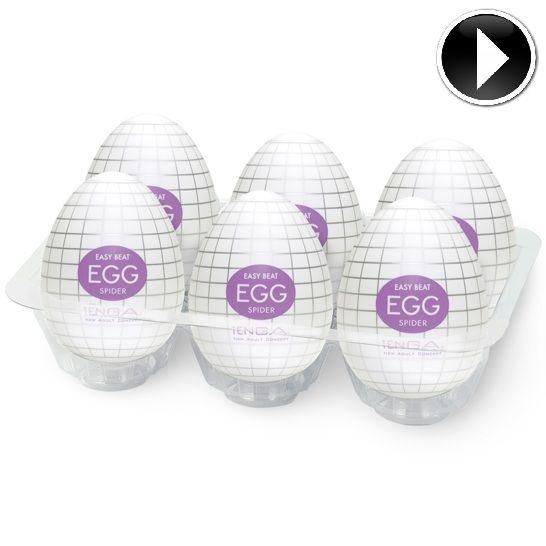 Tenga Egg Spider Pack 6 Easy Ona-Cap
