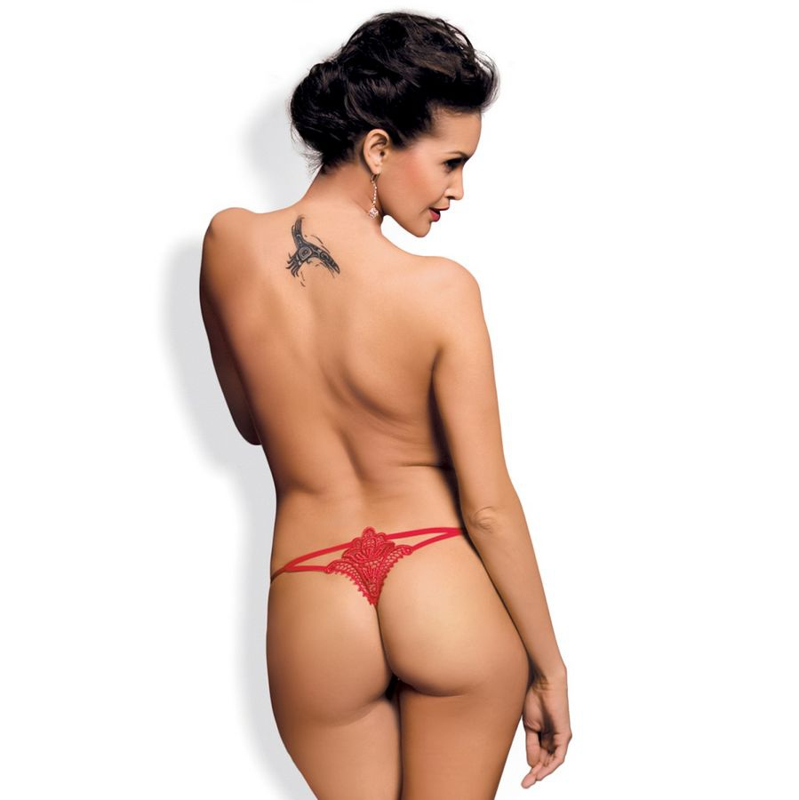 Obsessive Luiza Thong Rojo