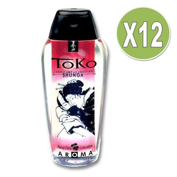 Shunga Toko Aroma Lubricante Cereza Ardiente (x 12 Uds)