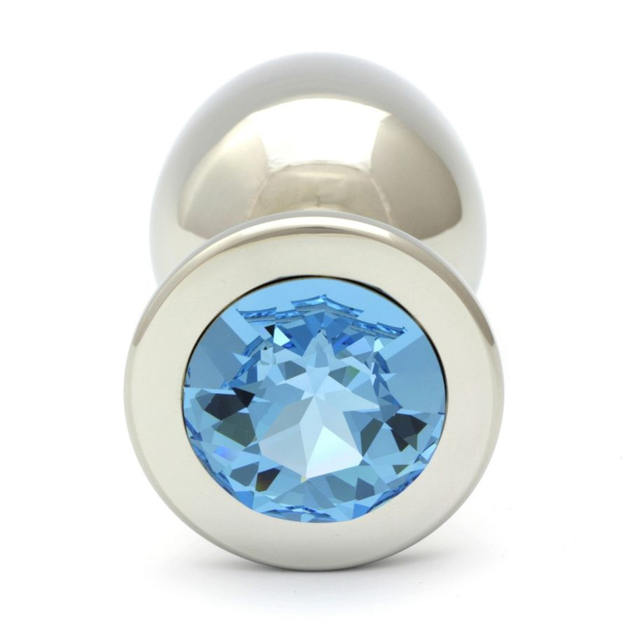 Swarovski Cristal Aquamarine Plug Anal XL 9.6cm / 27mm
