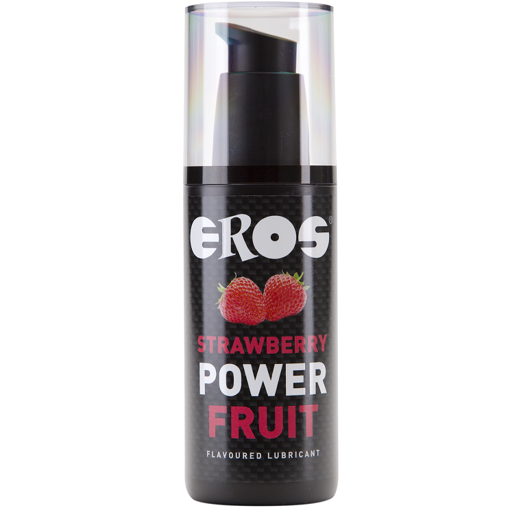 Lubricante Base Agua Power Fruit Fresa 125 ml Eros
