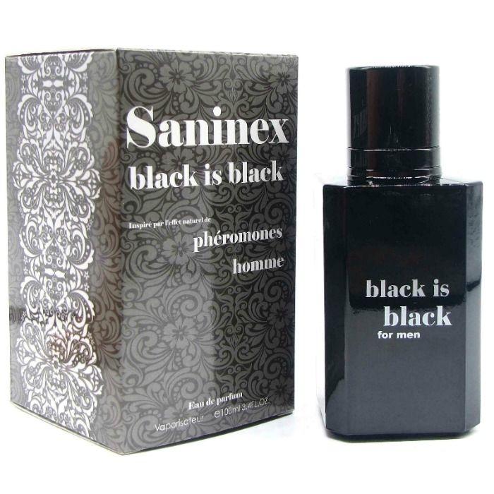 Saninex Black Is Black Perfume con Feromonas Hombre