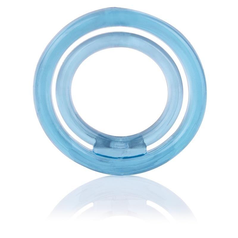 Screaming O Ring O2 Anillo Doble Pene y Testiculos Azul