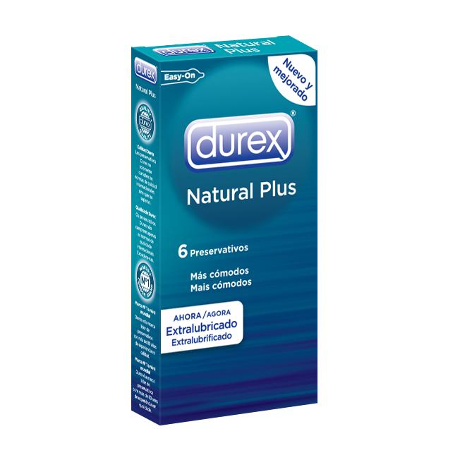 Preservativos Durex Natural Plus 6 Unidades