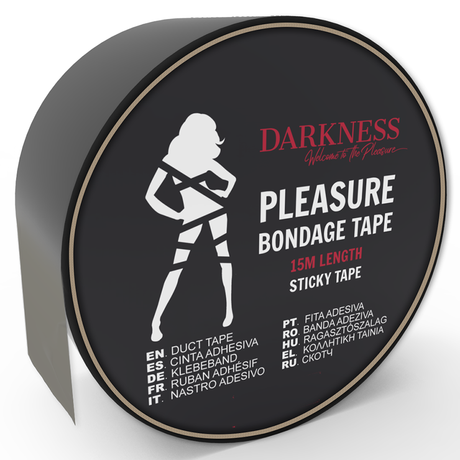 Darkness Cinta para Bondage Negro Adhesiva 15m