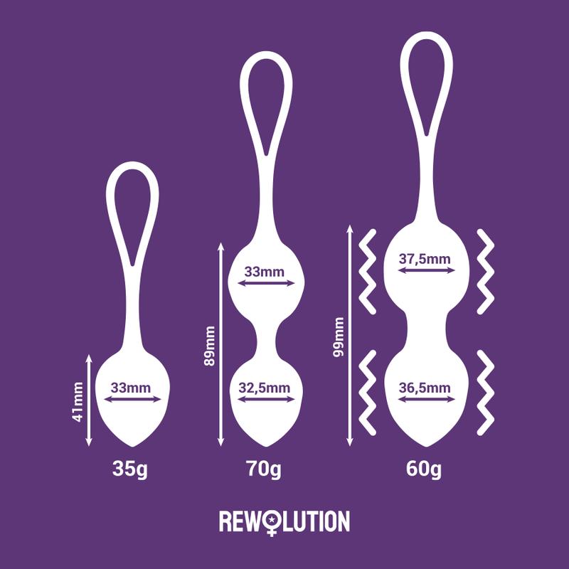 Rewolution Rewobeads Bolas Vibradoras Control Remoto con Tecnologia Watchme 7