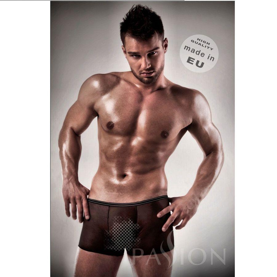 Boxer Negro 025 Transparente By Passion Men 1
