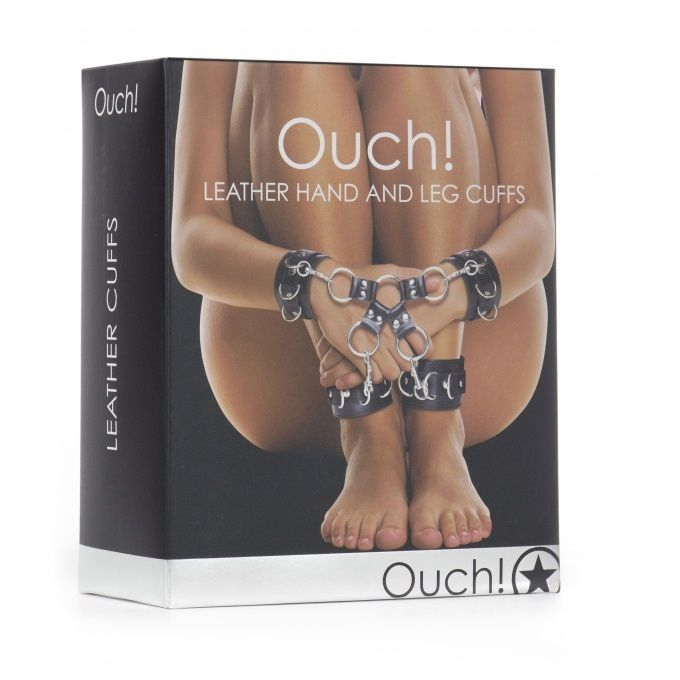 Ouch Leather Esposas Doble 2