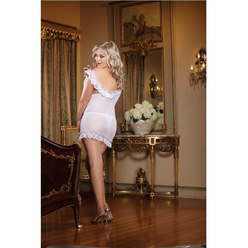 White Diamond Wedding Belle Talla Grande 1