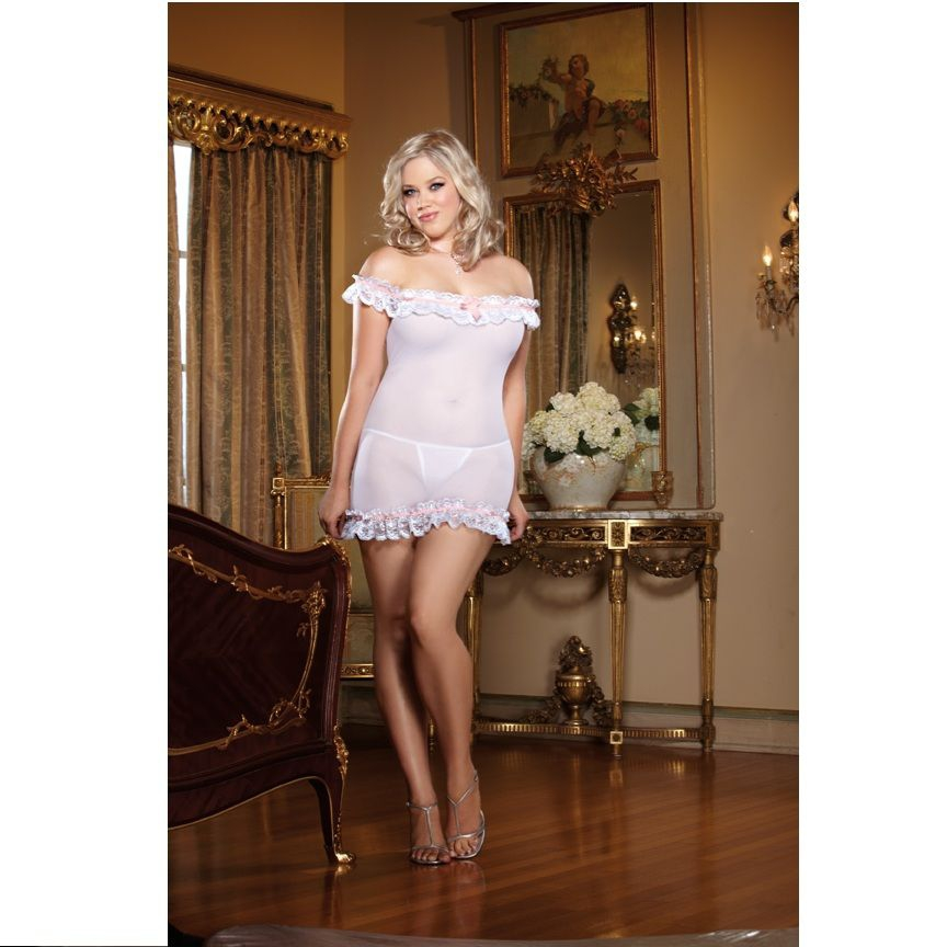 White Diamond Wedding Belle Talla Grande 2