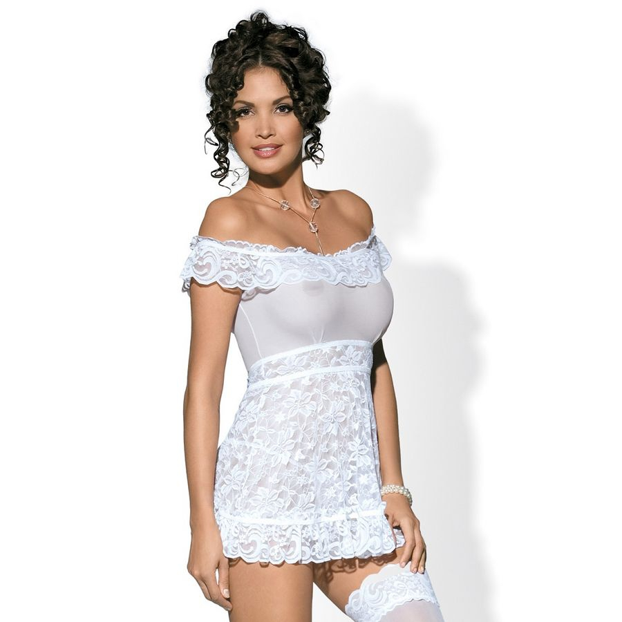 Obsessive Flores Babydoll Blanco  1