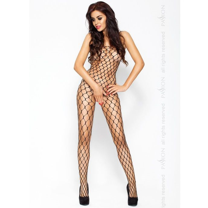Passion Eroticline Catsuit Negro Bs001 1