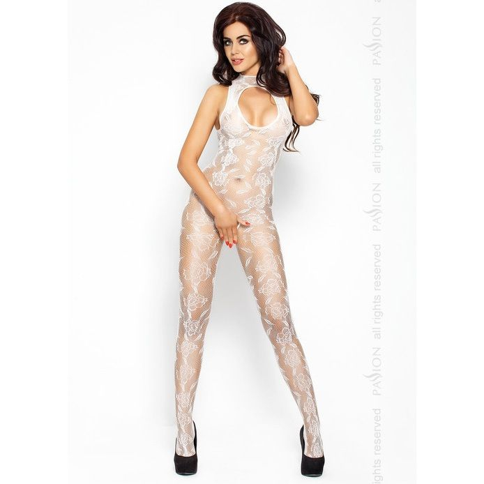 Passion Eroticline Catsuit Blanco Bs009 1