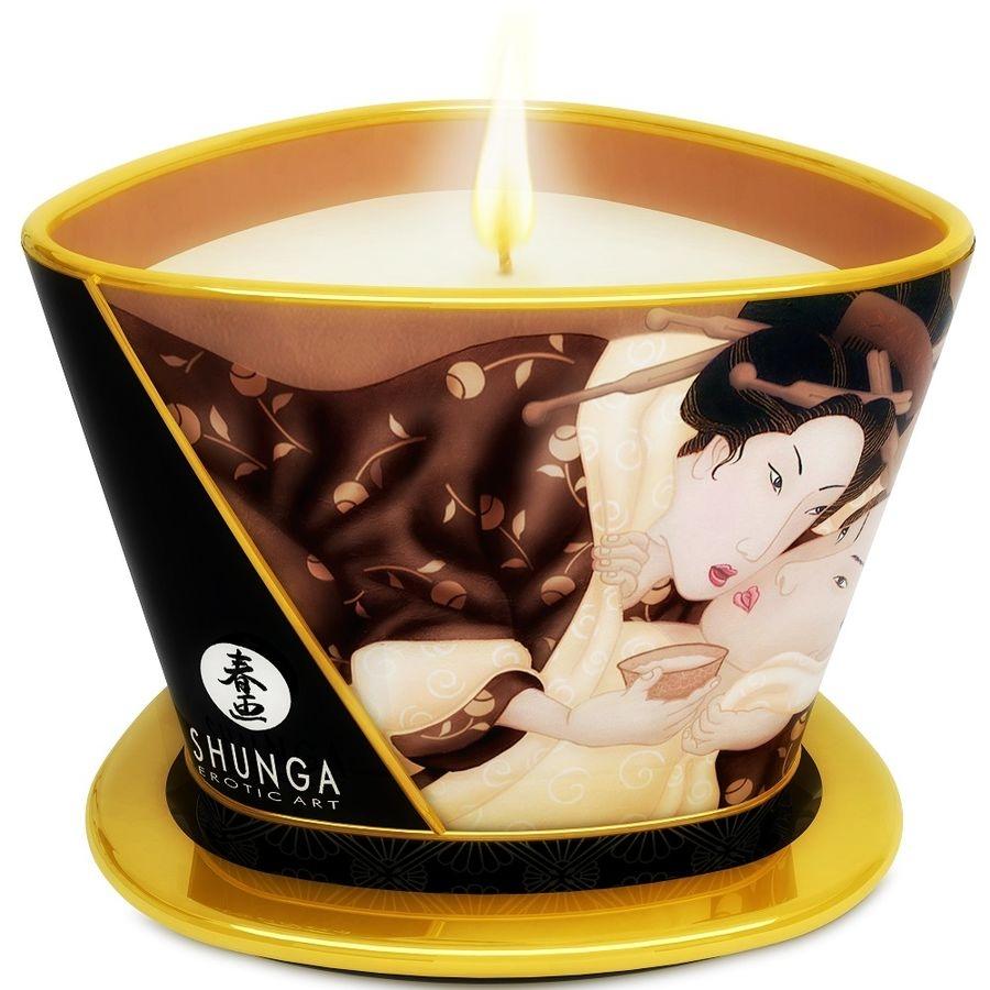 Shunga Vela Masaje Chocolate 1