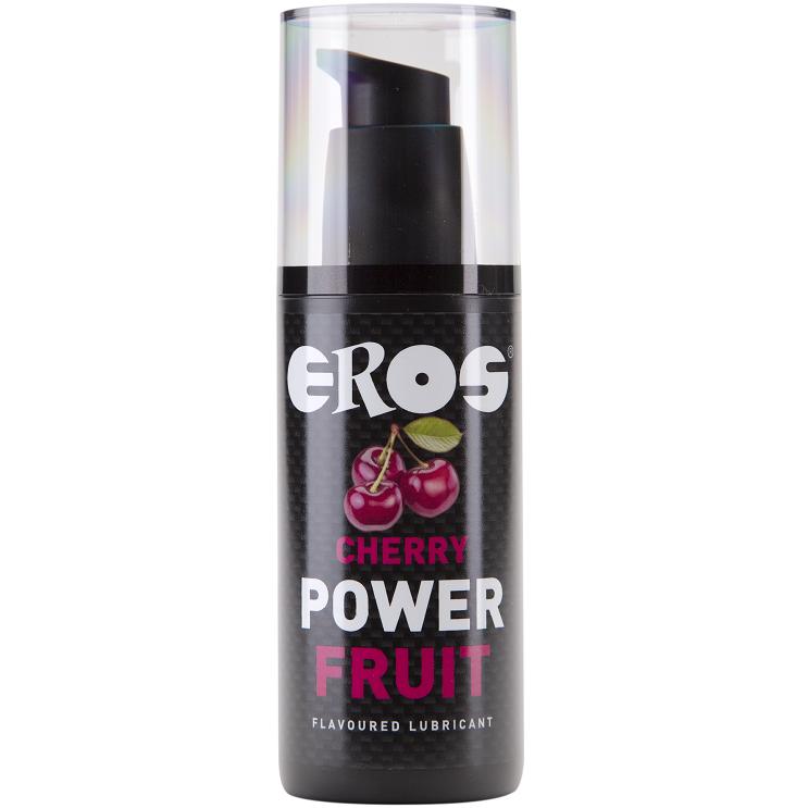 Lubricante Base Agua Power Fruit Cereza 125 ml Eros 1