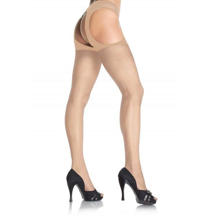 Leg Avenue Medias con Liguero Adjunto Nude 1