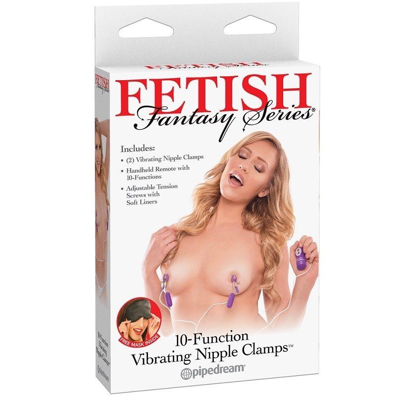 Fetish Fantasy Series Pinzas de Pezon Vibrador 10 Funciones 1