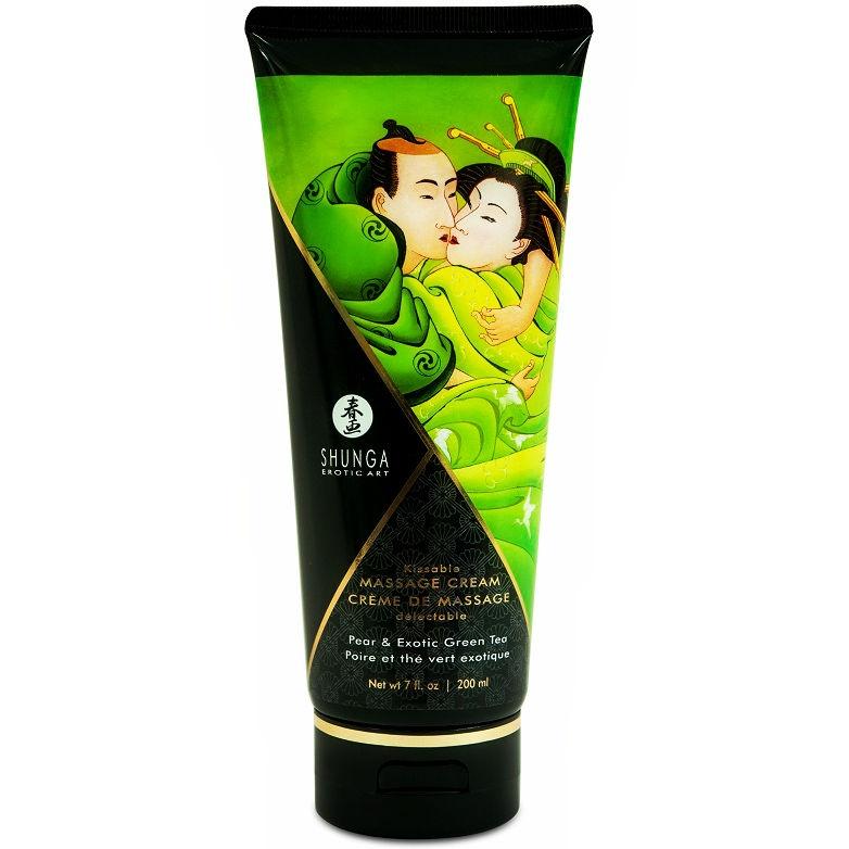 Shunga Crema de Masaje Pera & Té Verde 1