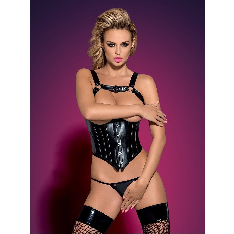 Obsessive Darksy Corset Leather  1