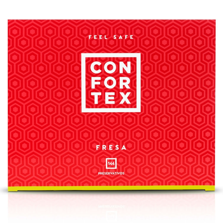 Confortex Preservativos Fresa Caja 144 Uds 2