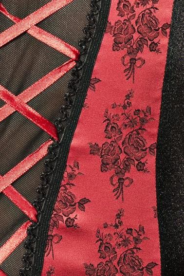 Passion Rumba Corset Negro y Rojo  2