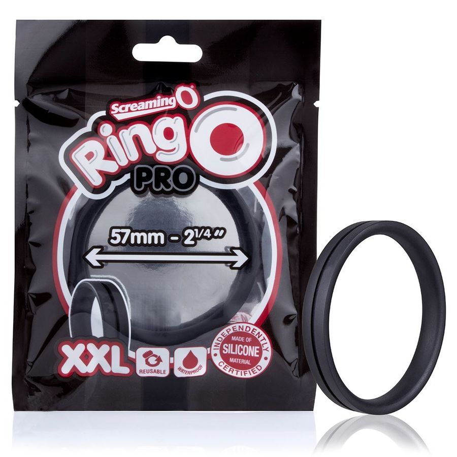 Screaming O Anillo Potenciador Ringo Pro XXL Negro 57mm 1