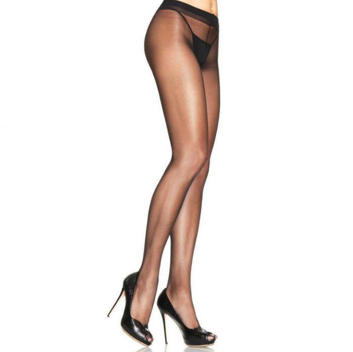 Leg Avenue Sheer Pantyhouse Lycra Negro 1
