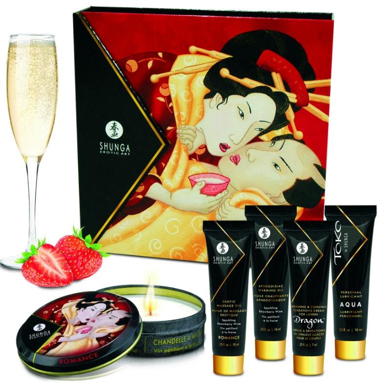 Kit Secret Geisha Fresa Champagne Shunga 3
