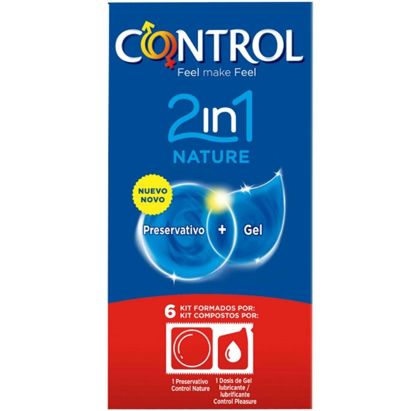 Control Duo Natura 2-1 Preservativo + Gel 6 Uds 2