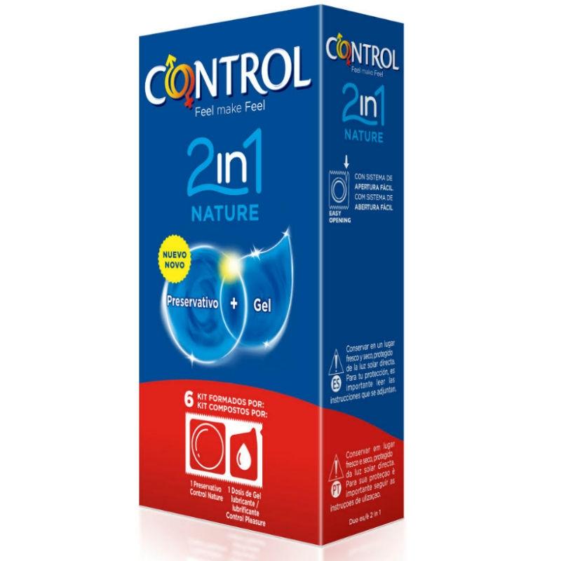 Control Duo Natura 2-1 Preservativo + Gel 6 Uds 3