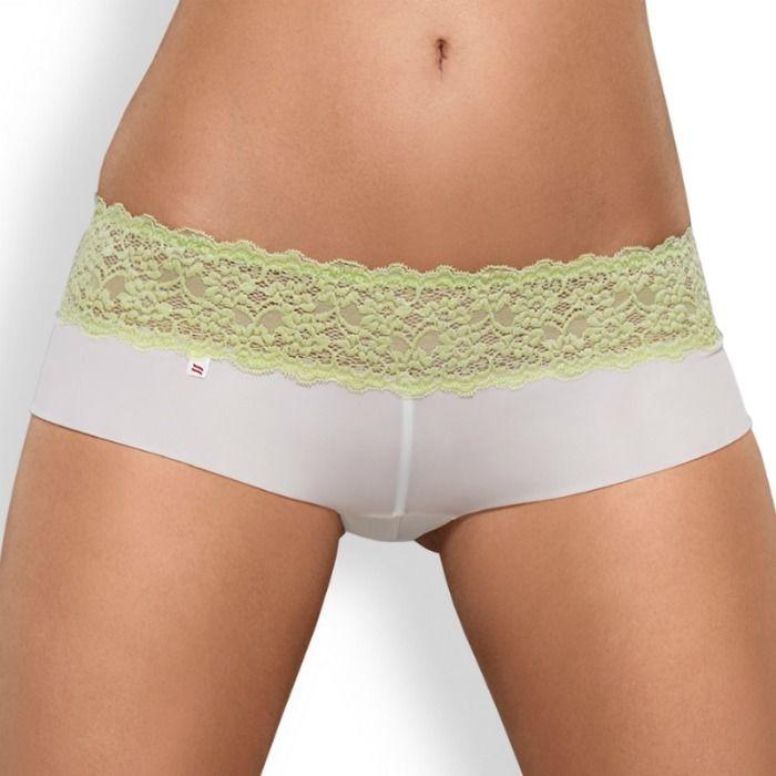 Obsessive Pack Tanga + Shorties Lacea Verde y Blanco  5