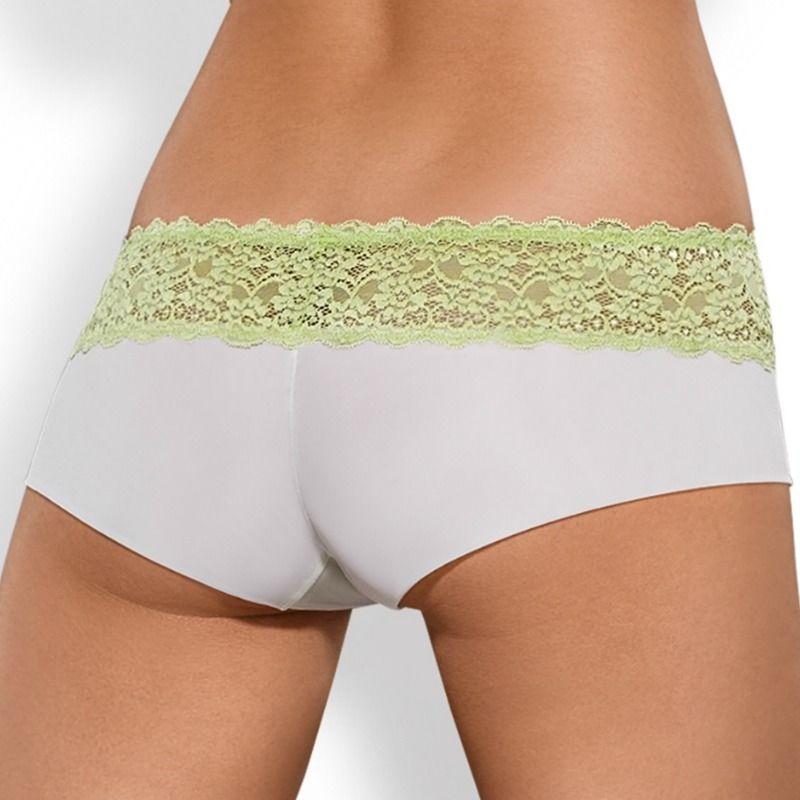 Obsessive Pack Tanga + Shorties Lacea Verde y Blanco  2