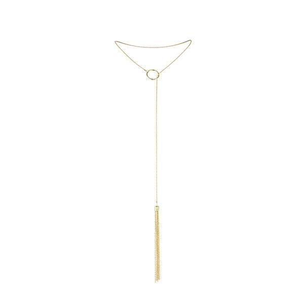 Magnifique Collar Metálico con Flecos Dorado 2
