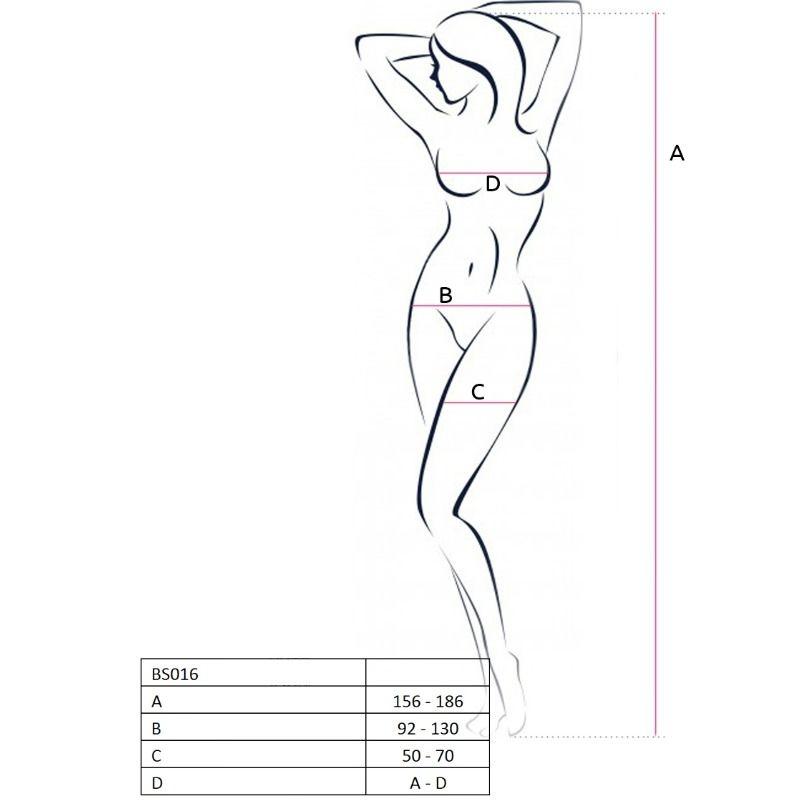 Passion Woman Bs016 Bodystocking Negro Talla Unica 3