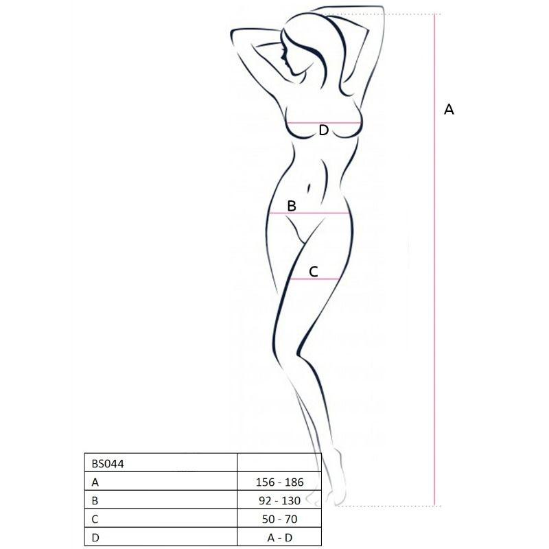 Passion Woman Bs044 Bodystocking Blanco Talla Unica 2