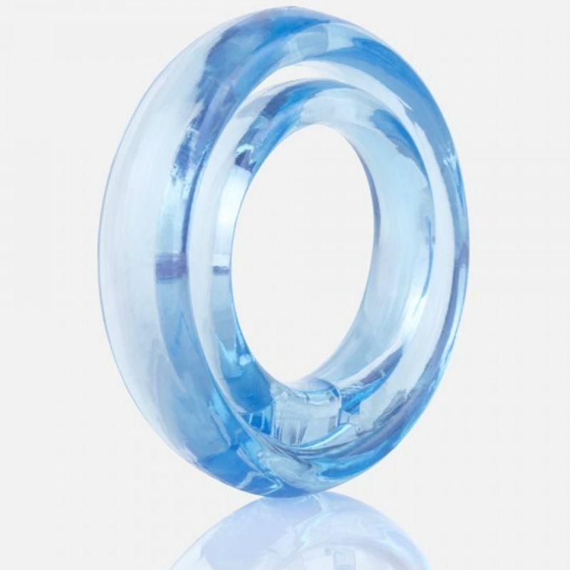 Screaming O Ring O2 Anillo Doble Pene y Testiculos Azul 1