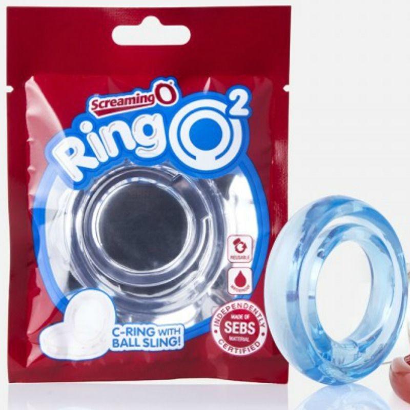 Screaming O Ring O2 Anillo Doble Pene y Testiculos Azul 3