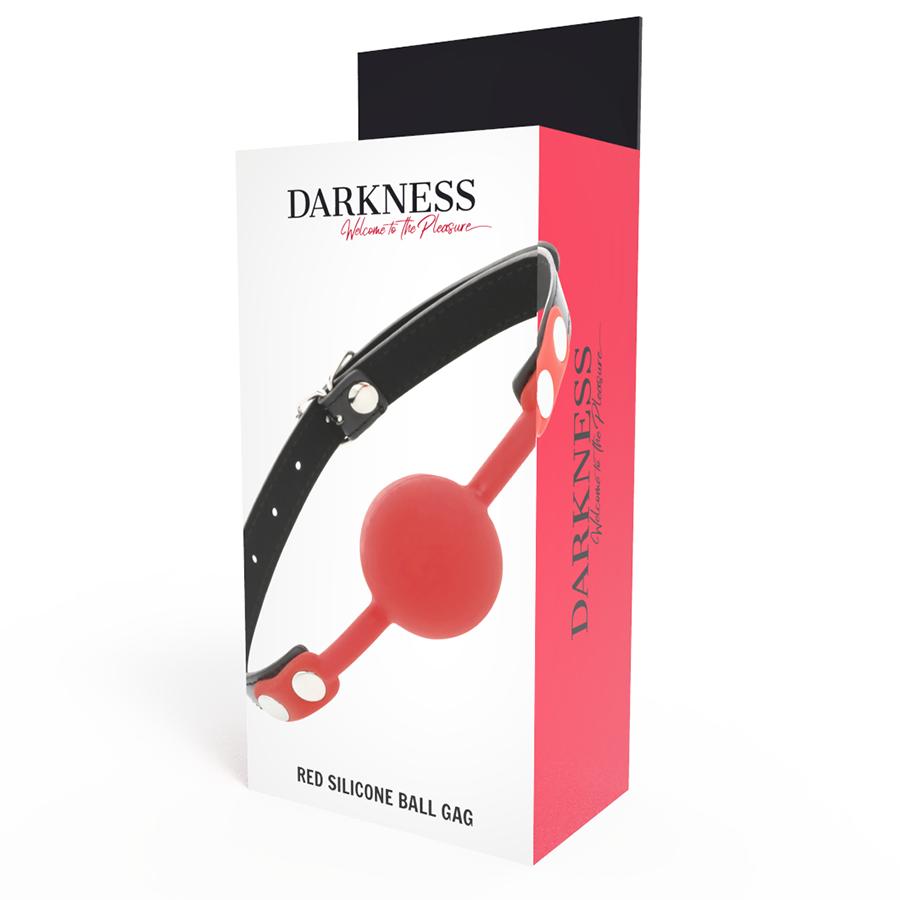 Darkness Mordaza Silicona Rojo 2