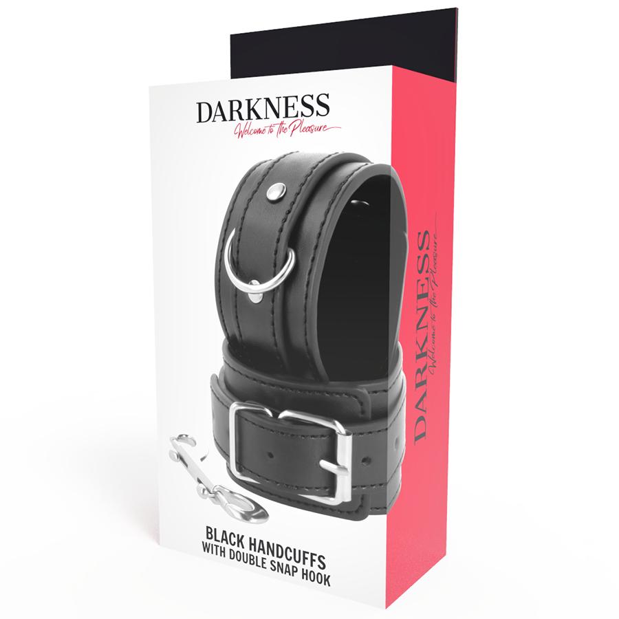 Darkness Esposas Ajustables Negro con Doble Cinta Refuerzo 3