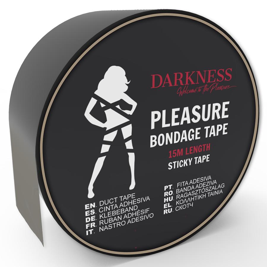 Darkness Cinta para Bondage Negro Adhesiva 15m 2