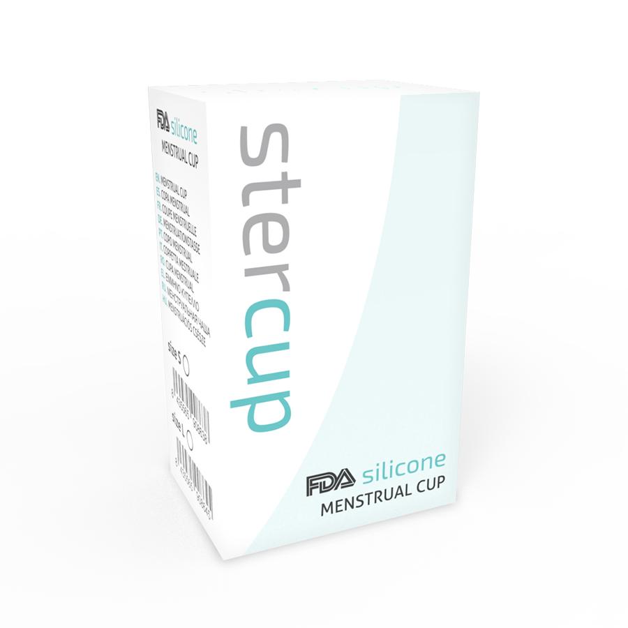 Stercup Copa Menstrual Fda Silicone Talla L Aquamarine 2