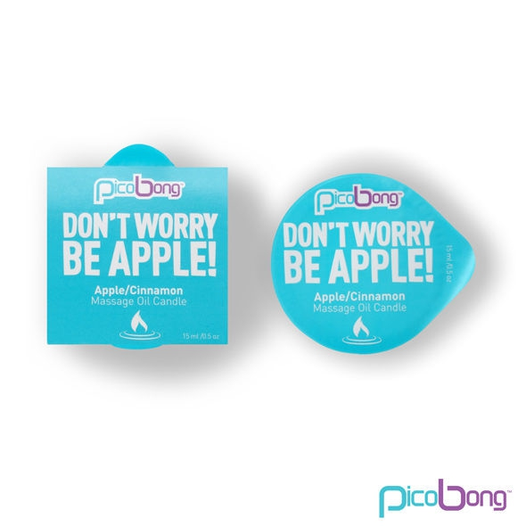 Don'T Worry Be Apple Massage Oil Candle 1
