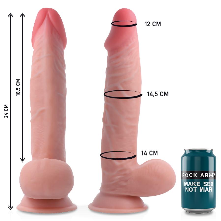 Rockarmy Dual Density Cherman Dildo Realista 24cm 2