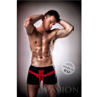 Passion 001 Komplet Leather Rojo/Negro