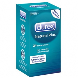 Preservativo Durex Pack Natural Plus 24 Unidades
