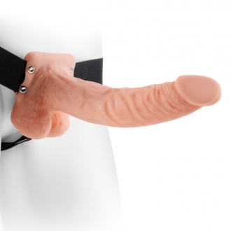 "Fetish Fantasy Series 9"" Arnes con Testiculos Hueco Man 22.9cm Natural"
