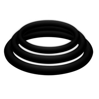 Potenzplus Kit de 3 Anillos para el Pene (S/M/L) Negro