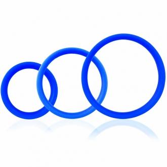 Screaming O Ring Pro Set 3 Anillos Azul