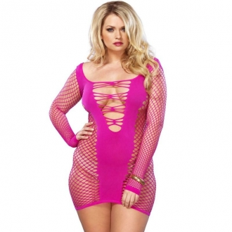 Leg Avenue Mini Vestido Rosa Talla Plus