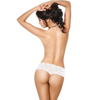 Le Frivole - 04370 Panties con Abertura Blanco